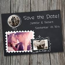 cheap save the date cards cheap chalkboard save the date with photos ewstd031 as low as 0 60