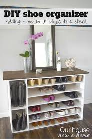 how to make a diy shoe organizer and rack for the closet u2022 our