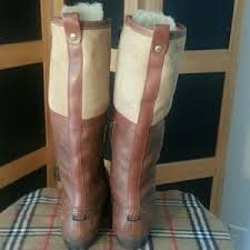 s ugg australia brown leather boots 50 ugg shoes ugg australia belcloud duck brown leather