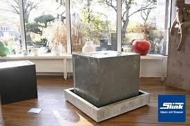 design zimmerbrunnen zimmerbrunnen zinkart quader indoor slink ideen mit wasser