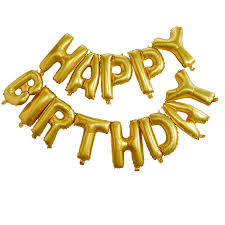 happy birthday balloon gold foiled happy birthday bunting balloon decoration by