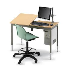 Split Level Drafting Table Cad Station Graphic Arts Split Top Furniture Education