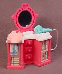 Pink Vanity Table Fisher Price Sweet Streets 2002 Pink Vanity Table With Attached