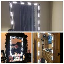 makeup vanity with led lights 5ft dressing mirror lighted cosmetic makeup vanity led light white