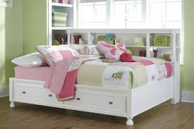 Bookcase Storage Beds Kaslyn Full Bookcase Storage Bed In White By Ashley Home Gallery