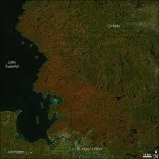 fall color lake superior image