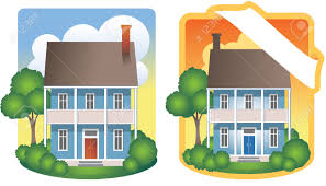 traditional 2 story house traditional two story house illustrations royalty free cliparts