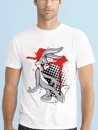 gildan bugs bunny trash polka tattoo design men t shirt in t