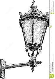 Old Lantern Light Fixtures by Antique Street Lantern Stock Vector Image 38864750