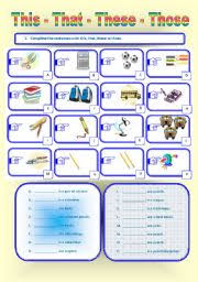 english worksheet demonstratives this that these or those