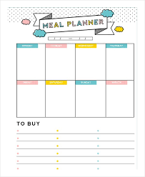lunch box planner template meal plan template 21 free word pdf psd vector format download