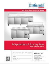 continental pizza prep table pizza preparation tables continental refrigerator