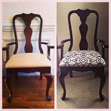 Recovering Chairs How To Reupholster A Dining Room Chair Far Fetched Reupholstering