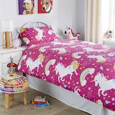 unicorn duvet cover set girls quilt cover unicorn bedding single