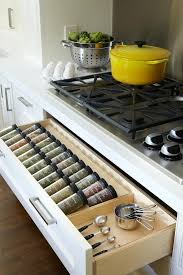 Kitchen Drawers Instead Of Cabinets by Instead Of Shelves Keep Ur Spice Jars In A Drawer With Elevations