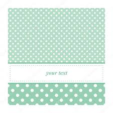 sweet mint green polka dots card invitation birthday baby