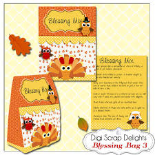 thanksgiving blessing mix printable gift bag easy topper and