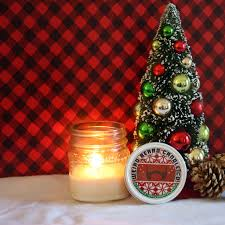ugly christmas sweater party 8oz soy candle peppermint and pine
