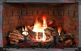 experience this realistic fireplace poster