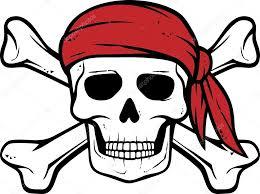 pirate skull bandana and bones stock vector tribaliumivanka
