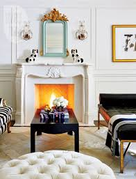 appealing bedroom with fireplace for calmness rest interior eclectic and exotic glamour style at home