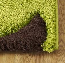 fashion 7647 green brown rug modern shaggy rugs rugs uk