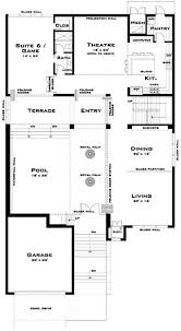 Bi Level Floor Plans With Attached Garage by Modern House Plan 6 Bedrms 5 Baths 4757 Sq Ft 116 1067