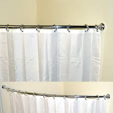 curved shower curtain rail corner bath curved shower curtain rails