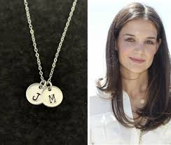 Monogram Disc Necklace Monogram Jewelry Sterling Silver Initial Coin Necklace