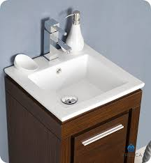 Small Contemporary Bathroom Vanities by 16 U201d Fresca Allier Wenge Brown Fvn8118wg Small Modern Bathroom