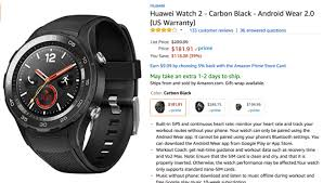 notable amazon deals black friday deal alert huawei watch 2 sport is just 181 91 108 off