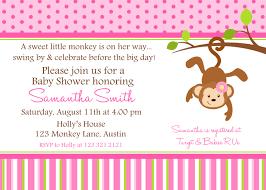 designs monkey baby shower invitations