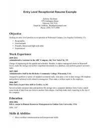 sle cv for receptionist position receptionist job description resume sles fieldstation co hotel