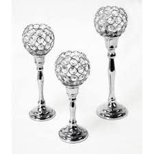 Crystal Candle Sconce Set 3 Candle Holders With Crystal Balls Nkl Brass4u Com