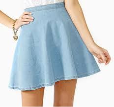 light blue skater skirt skirt skater skater skirt flare denim chambray light denim