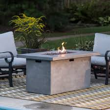 Patio Table Cover Rectangle by Red Ember 52 In Whitesands Rectangle Gas Fire Pit Hayneedle