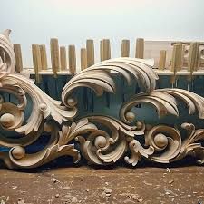 ornamental elements handcarved scroll woodcarving architectural