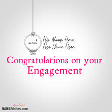 congratulate engagement wishes on engagement with names