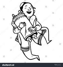 jewish coloring book jewish boy dancing torah stock vector 266964986 shutterstock