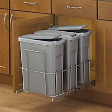 pull out trash can for 12 inch cabinet garbage cans bins the home depot canada