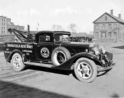 Vintage Ford Truck Emblems - a custom cadillac tow truck the old motor
