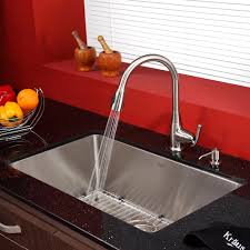 Red Kitchen Faucet by Stainless Steel Kitchen Sink Combination Kraususa Com
