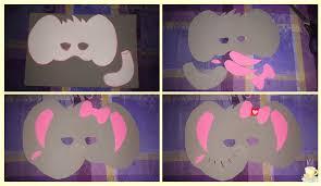 como hacer mascaras en forma de rosa diy máscara de elefante latazaamarilla