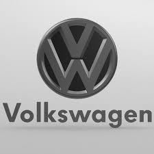 volkswagen logo black of volkswagen logo 3d model cgtrader