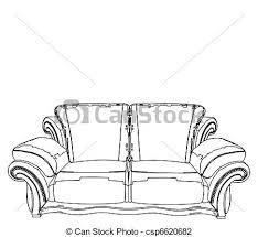 vector illustration of classic sofa sofa vector csp6620682