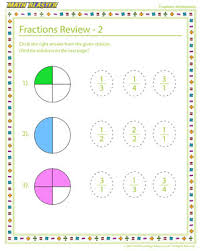 fractions review u2013 2 u2013 fractions worksheet online free u2013 math blaster