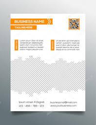 business flyer template sleek modern minimalistic design in