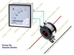 how to wire ammeter with current transformer ct coil