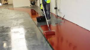 Laminate Flooring Paint Painting A Lorry Workshop Floor With Rizistal Epoxy Resin Paint