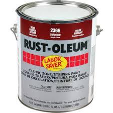 1 gallon rust oleum semi gloss traffic u0026 striping paint red hd